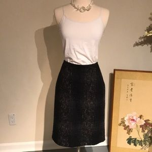 Prada wool Skirt navy and greys Sz 46